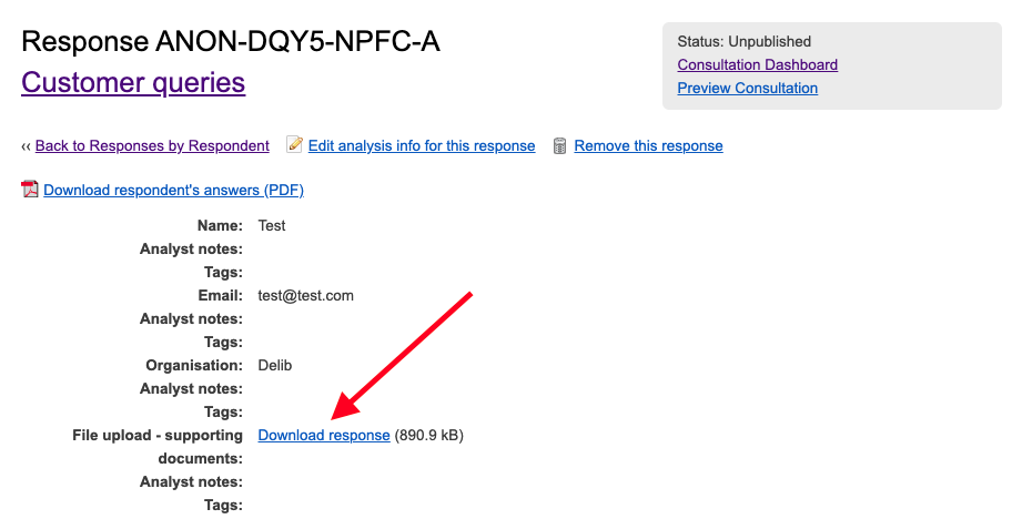 Screenshot showing where to to access the download in this view