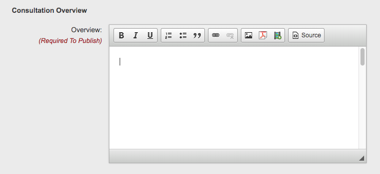 Screenshot showing the text window for adding your text to the overview page