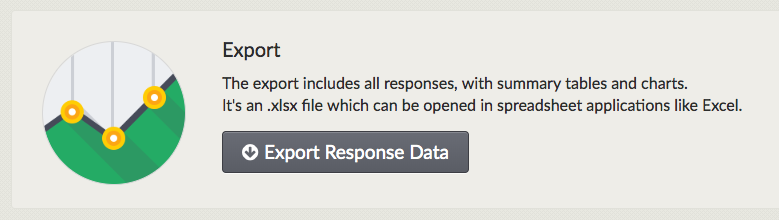 Screenshot showing button to export response data