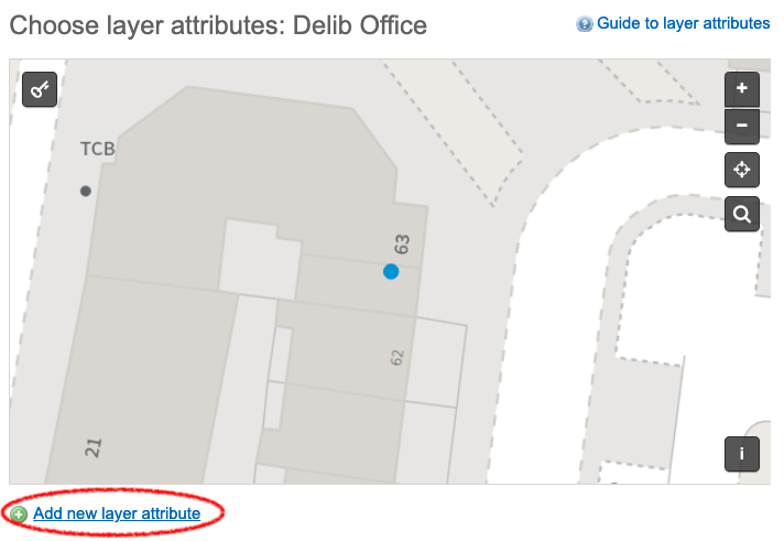 Add new layer attribute link circled on the selected layer.