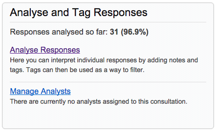 analyse responses dashboard item