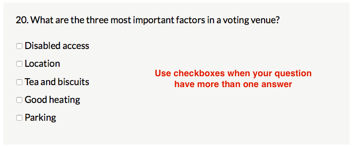Radio button vs checkbox - what's the difference? – Delib