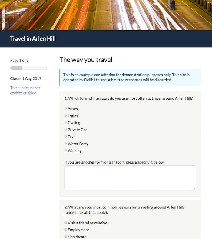 Respondent journey: Answering an Online Survey – Delib